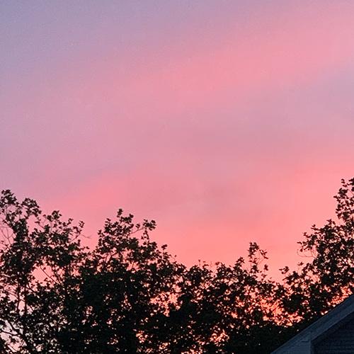 A photograph of a sunset